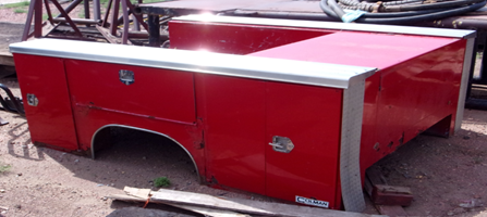 Red Truck bed